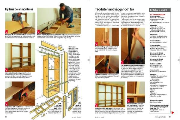 Bygg egen bokhylla bokhylla från golv till tak Gör Det Själv