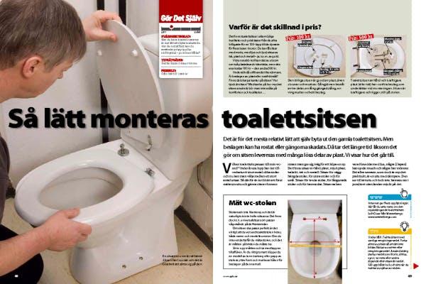 Helt nya Så lätt monteras toalettsitsen   Gör Det Själv JS-85