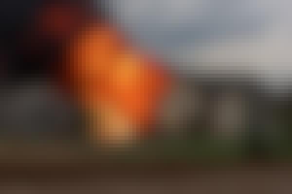 Brennende hus