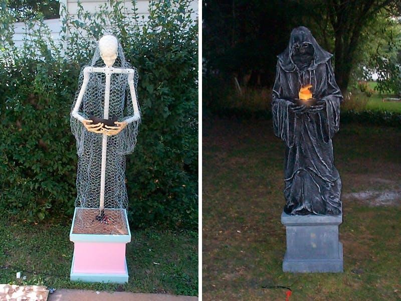 Halloween Byg Selv Uhyggelig Halloween Pynt Gør Det Selv