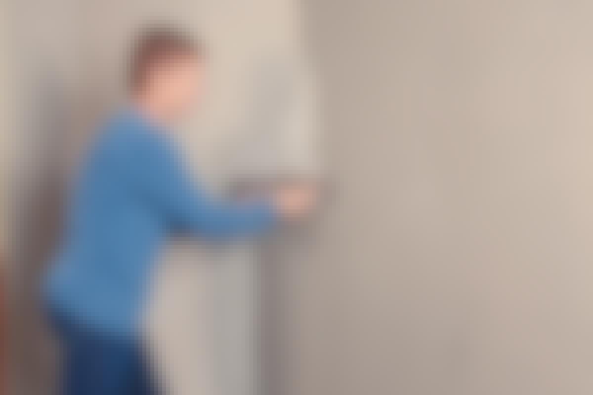 PERFEKT: Når du fuldspartler, får du en ensartet væg, som er jævn, glat og robust – lige til at male på.