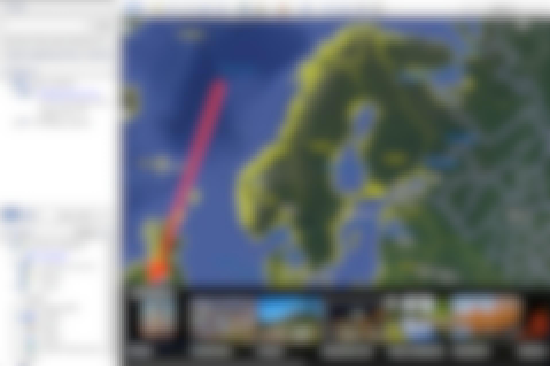 Uppmätning med Google Earth