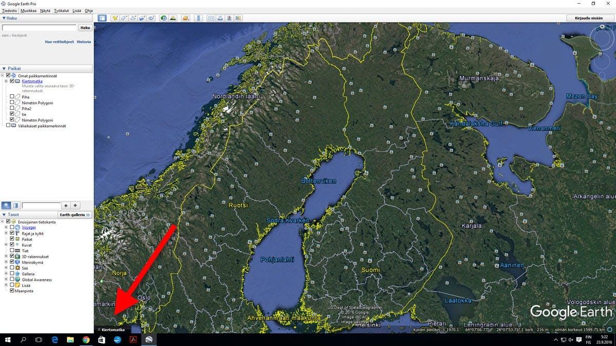 Mittaa Google Earthilla Tee Itse