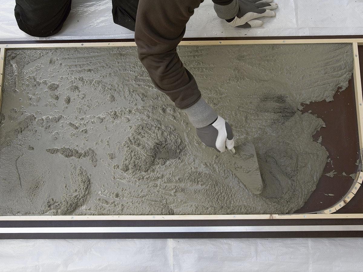 hur tunt kan man gjuta betong
