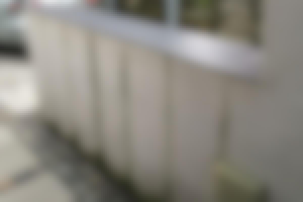 Hvorfor blir det striper på murveggen?