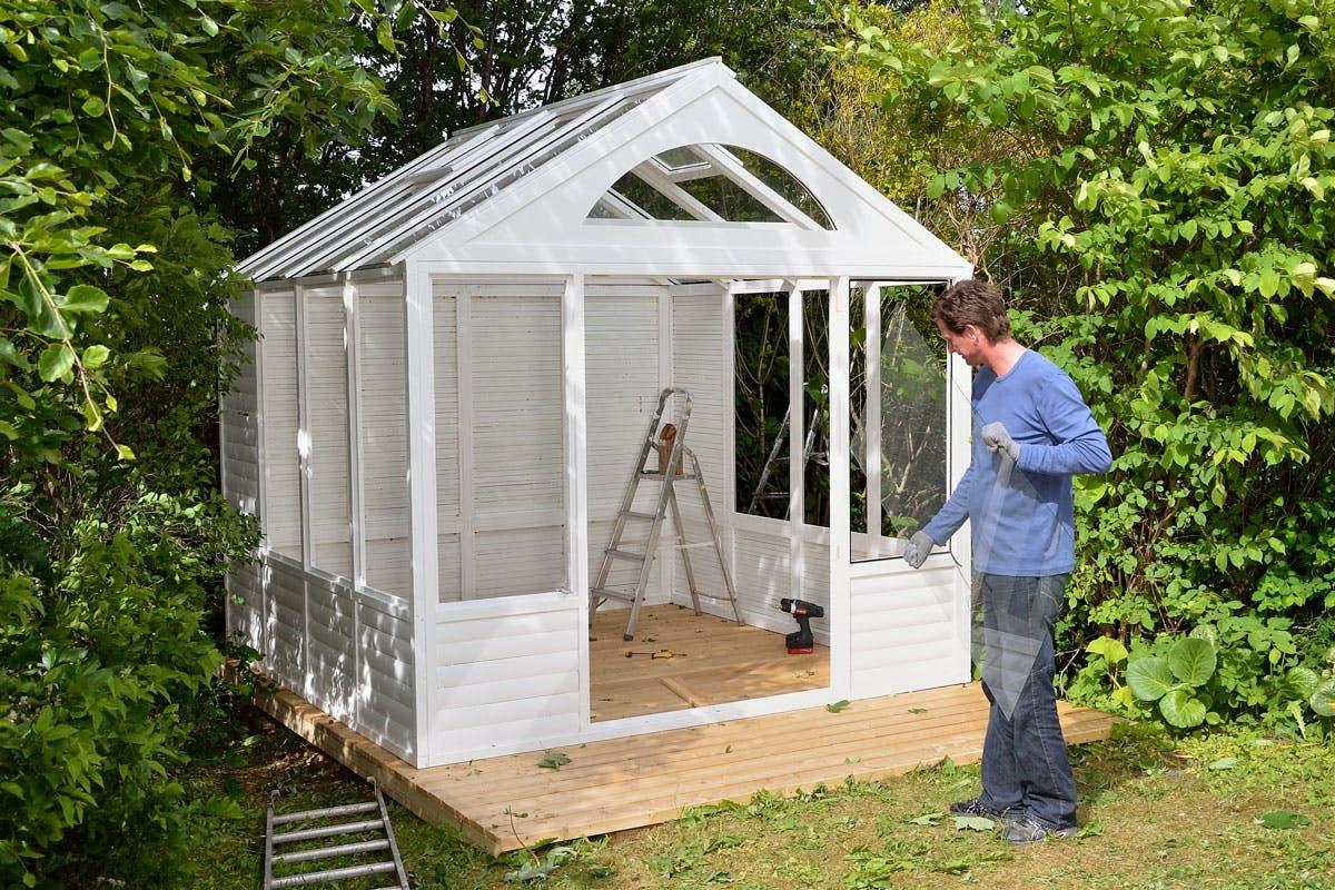 bygga eget växthus plast