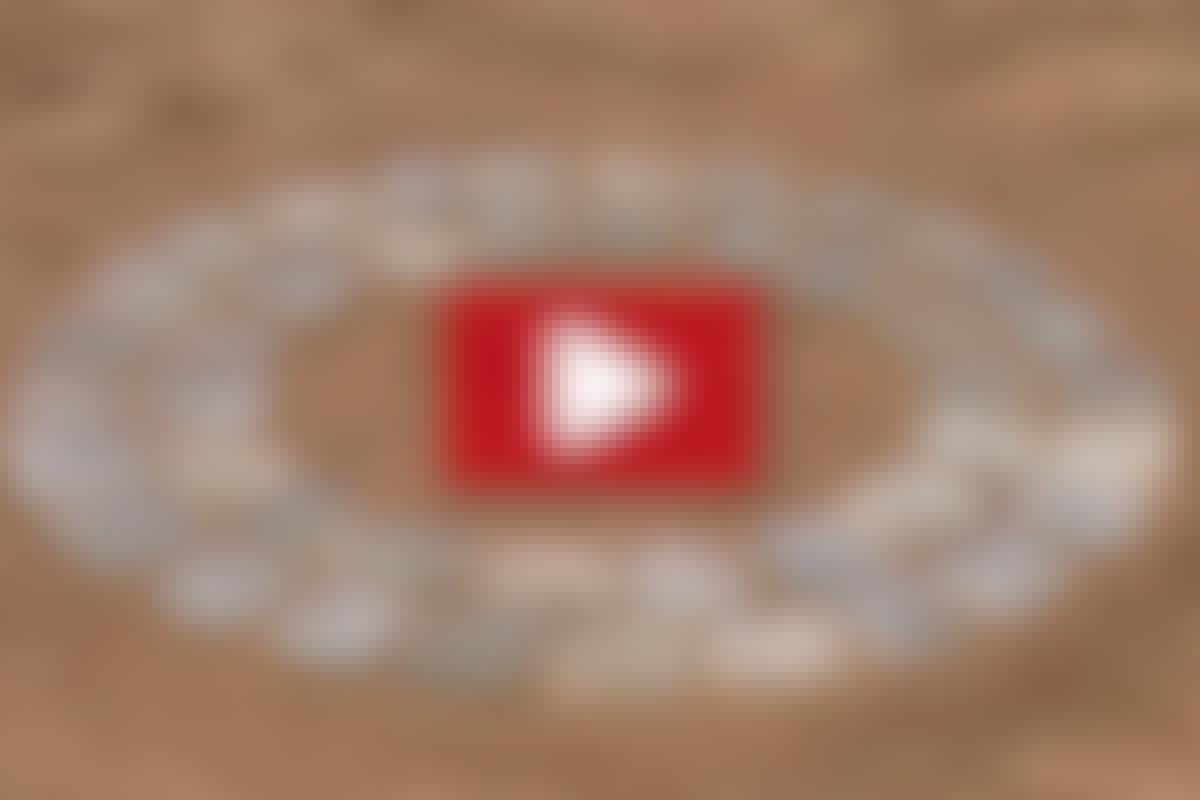 STENSÄTTARTEKNIK: Cirklar av smågatsten