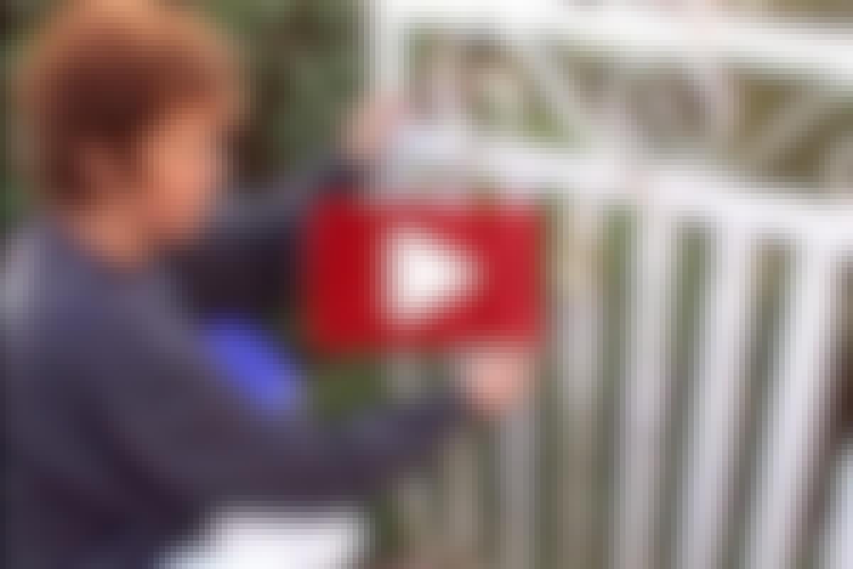 VIDEO: Måla den rostiga grinden
