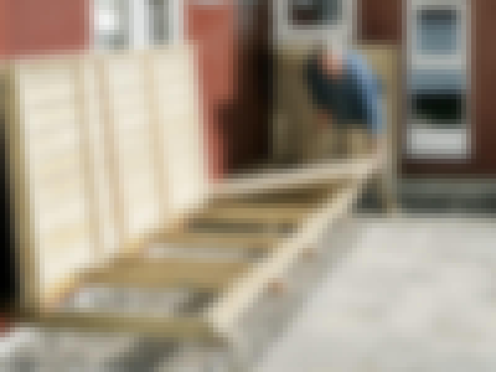 Terrasse fliser klap op