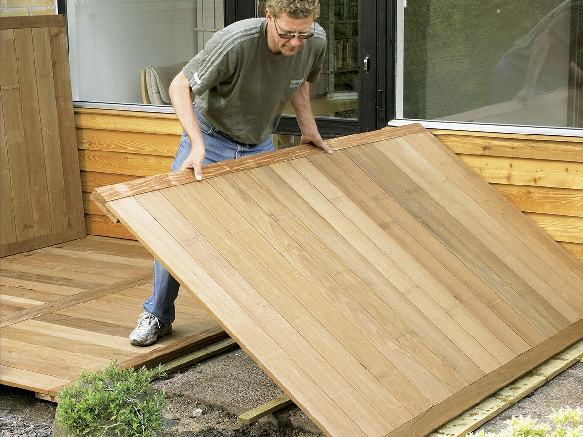 bygga altan direkt på plattor