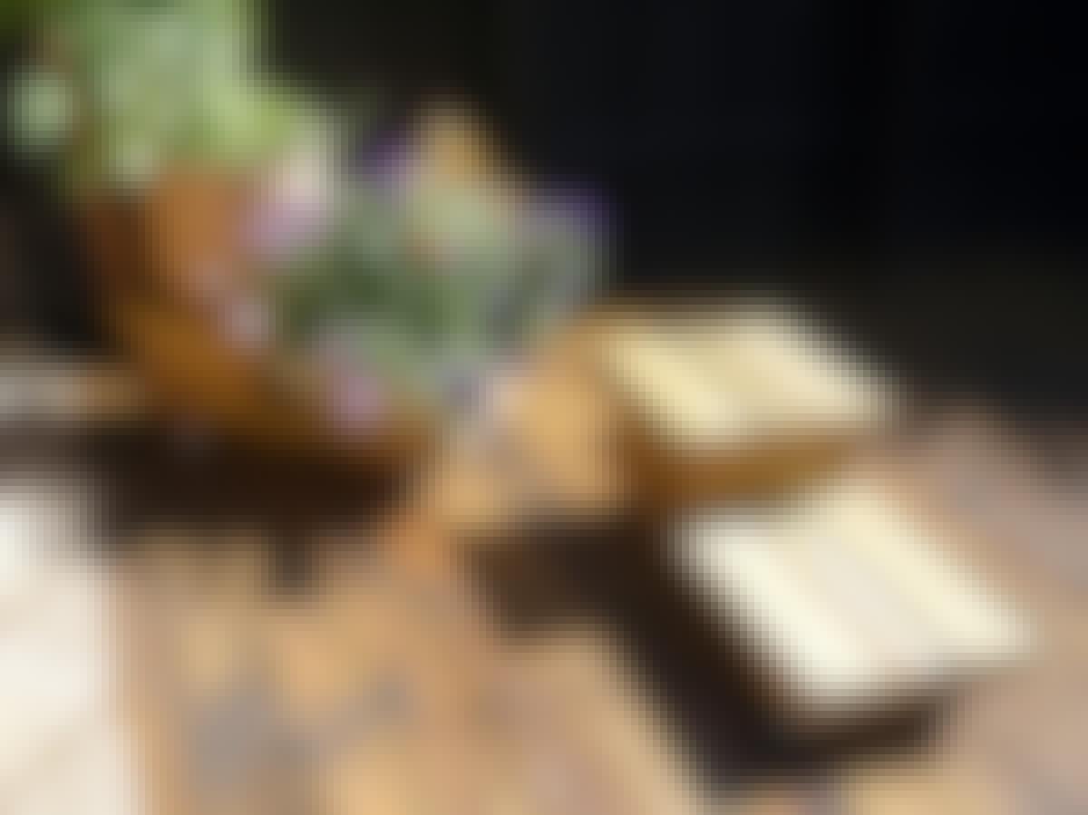Terrasse mobil vogn blomster