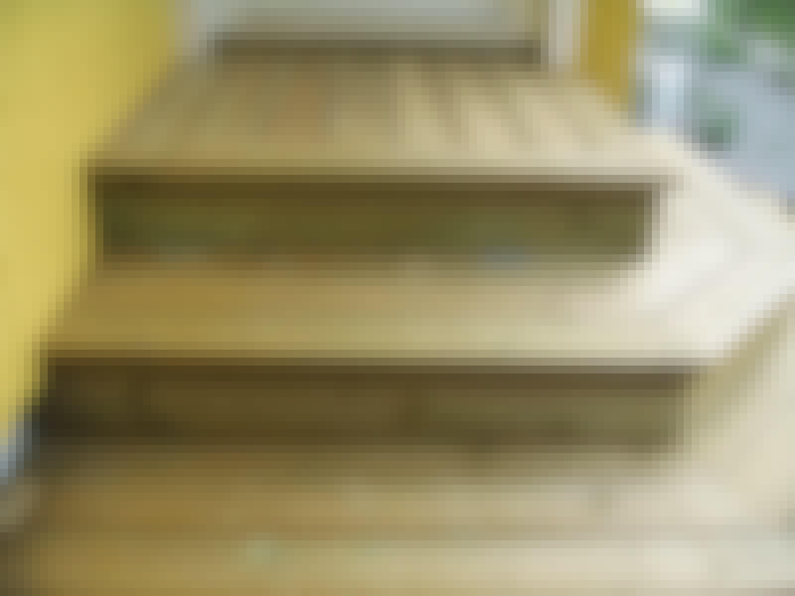 Dynlåda trappa altan