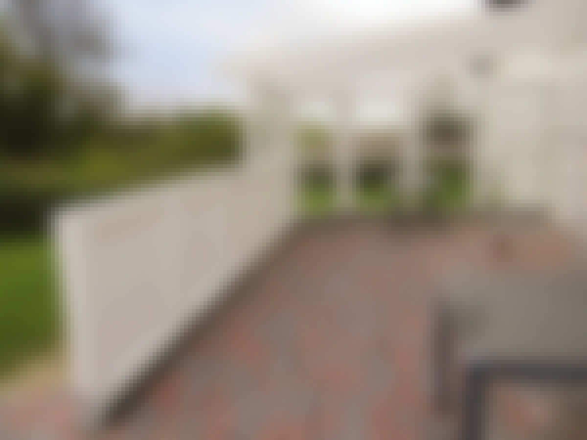 Terrasse gjerde halvtak