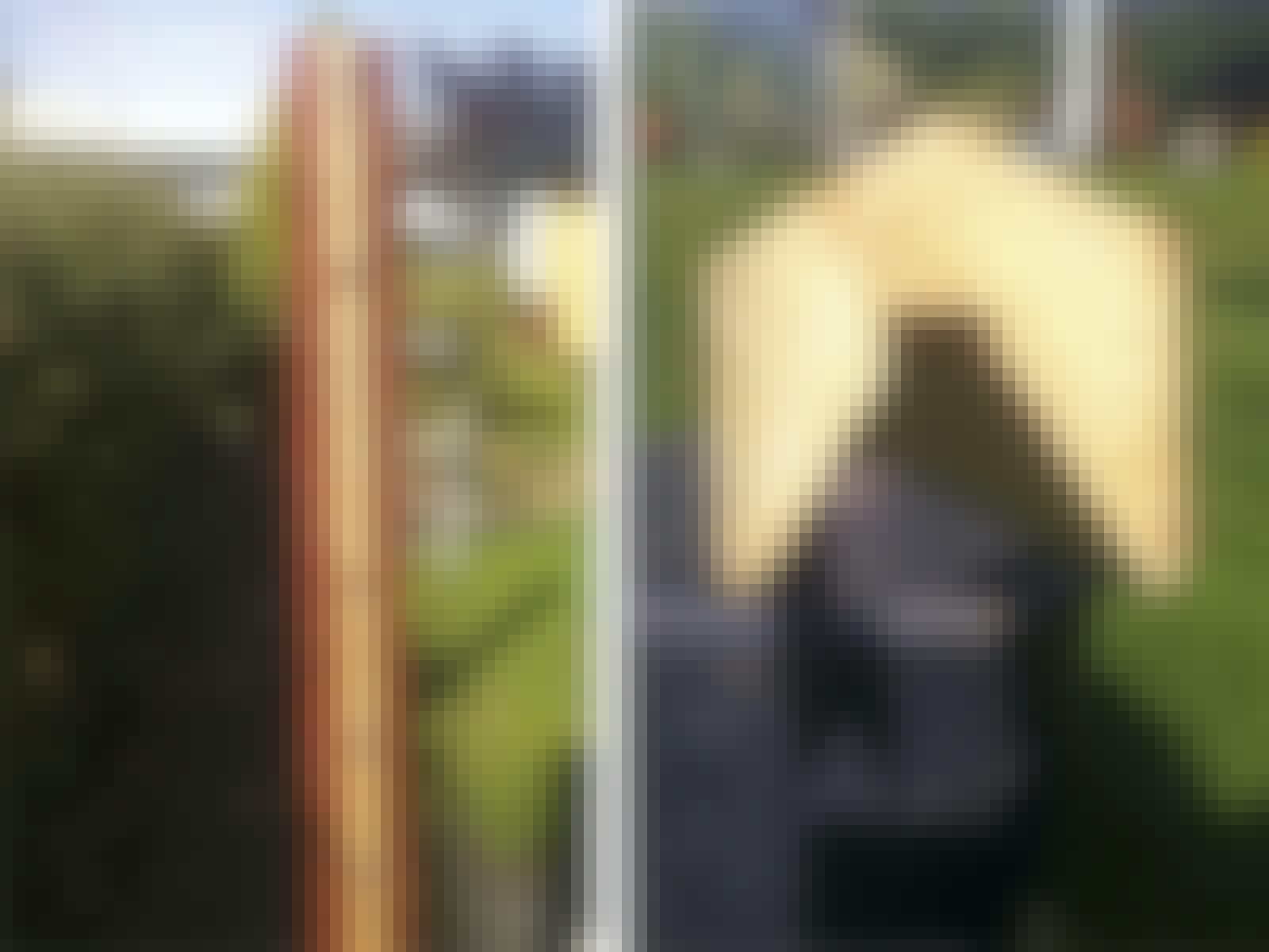 Altan flätat staket