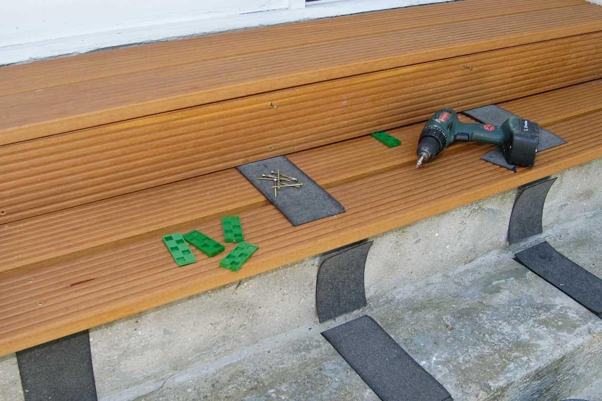 bygga in betongtrappa i trä