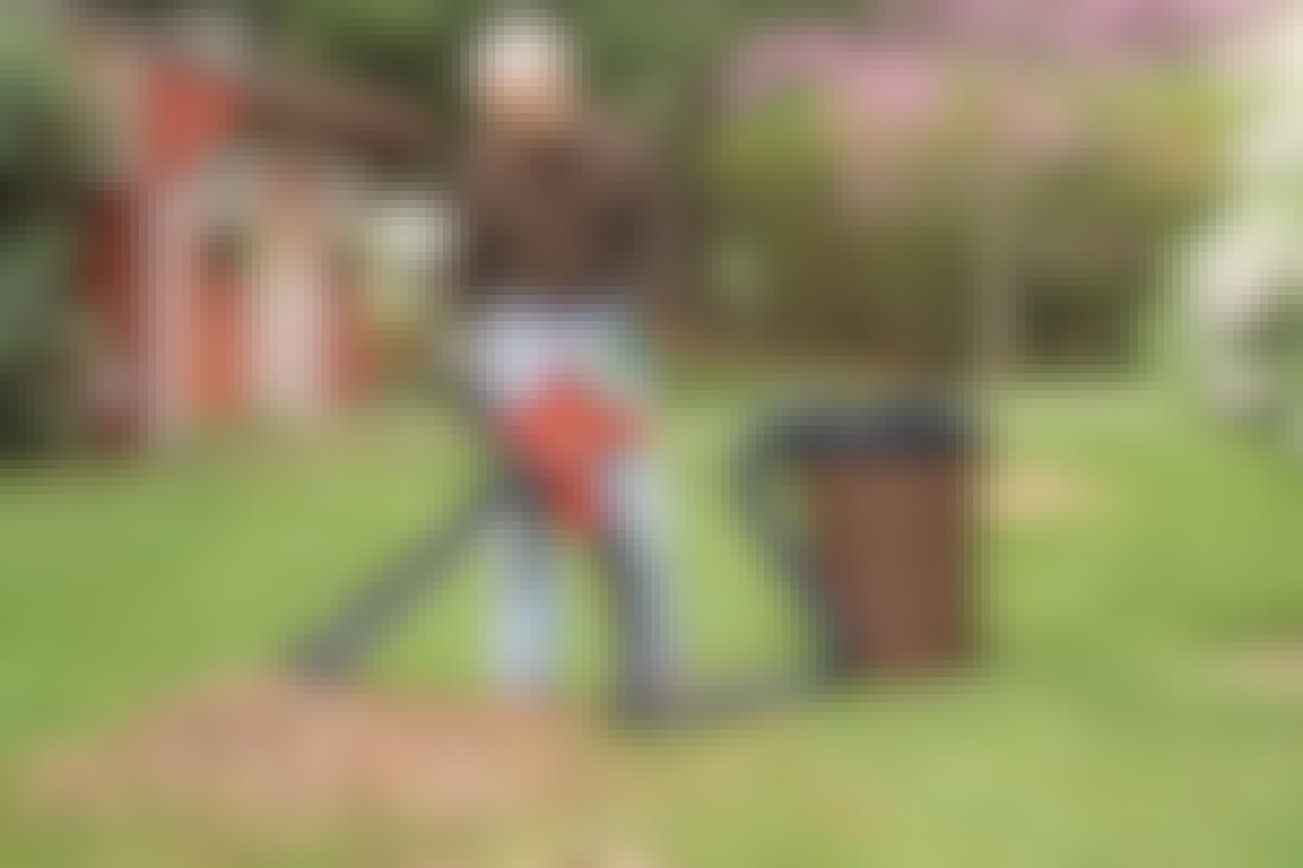 Yhdistä lehti-imuri kompostiin