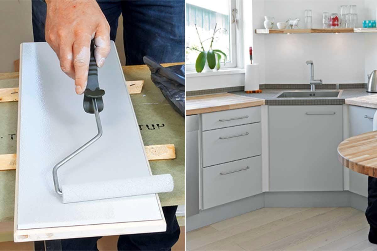 hvordan maler man køkkenlåger