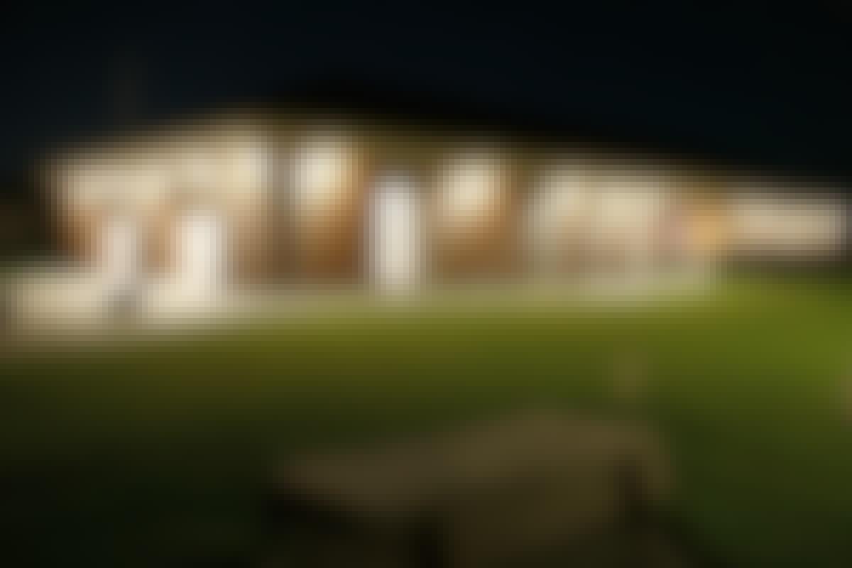 LED pærer lyser huset op