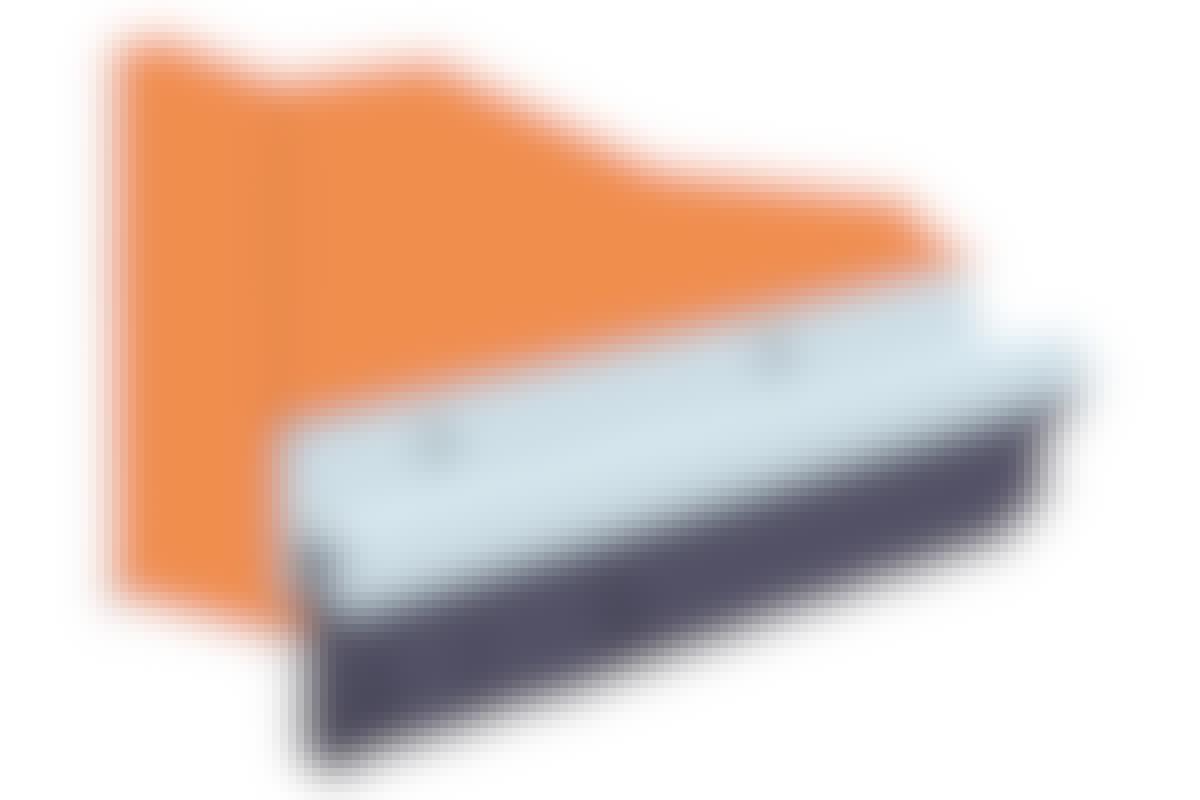 Børstelister kjøpes i standardlengder, og kan kappes til i riktig lengde med ei baufil.
