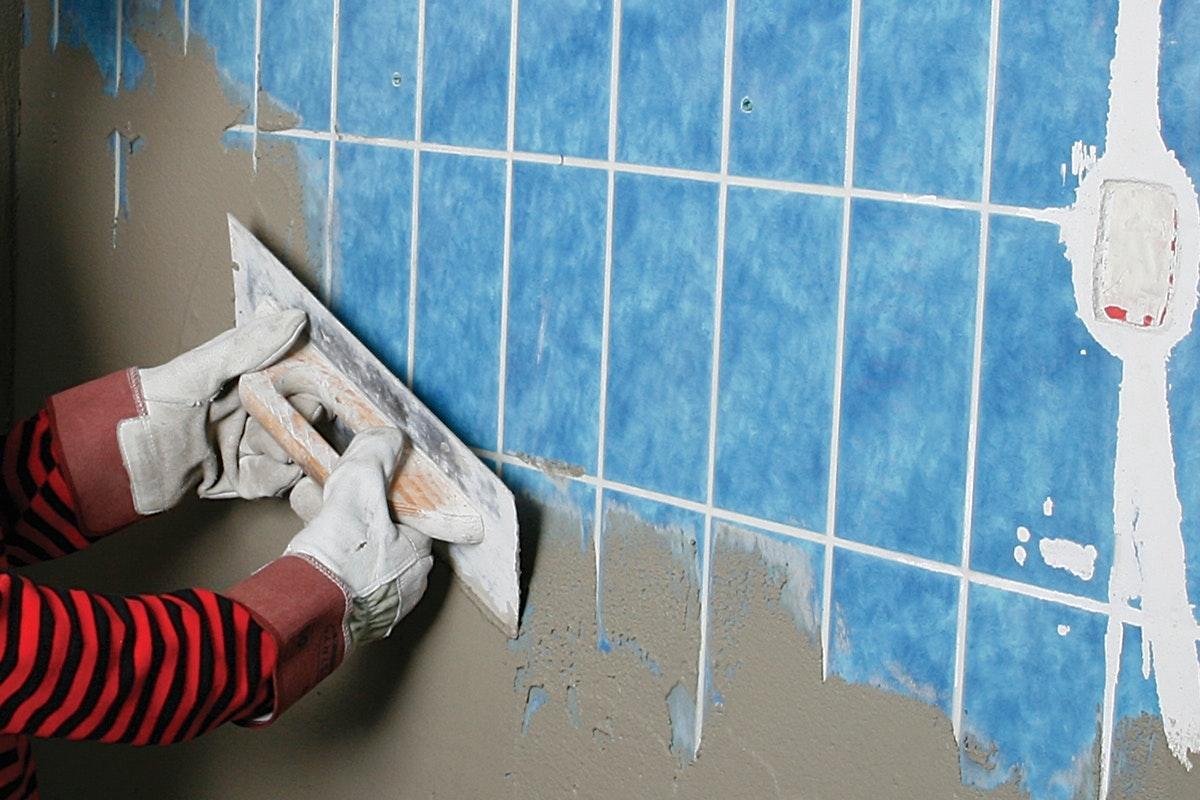 fjerne puds fra væg
