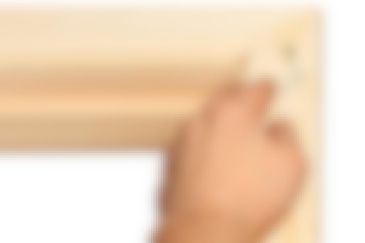 Kan malingsflekker på umalt tre fjernes?
