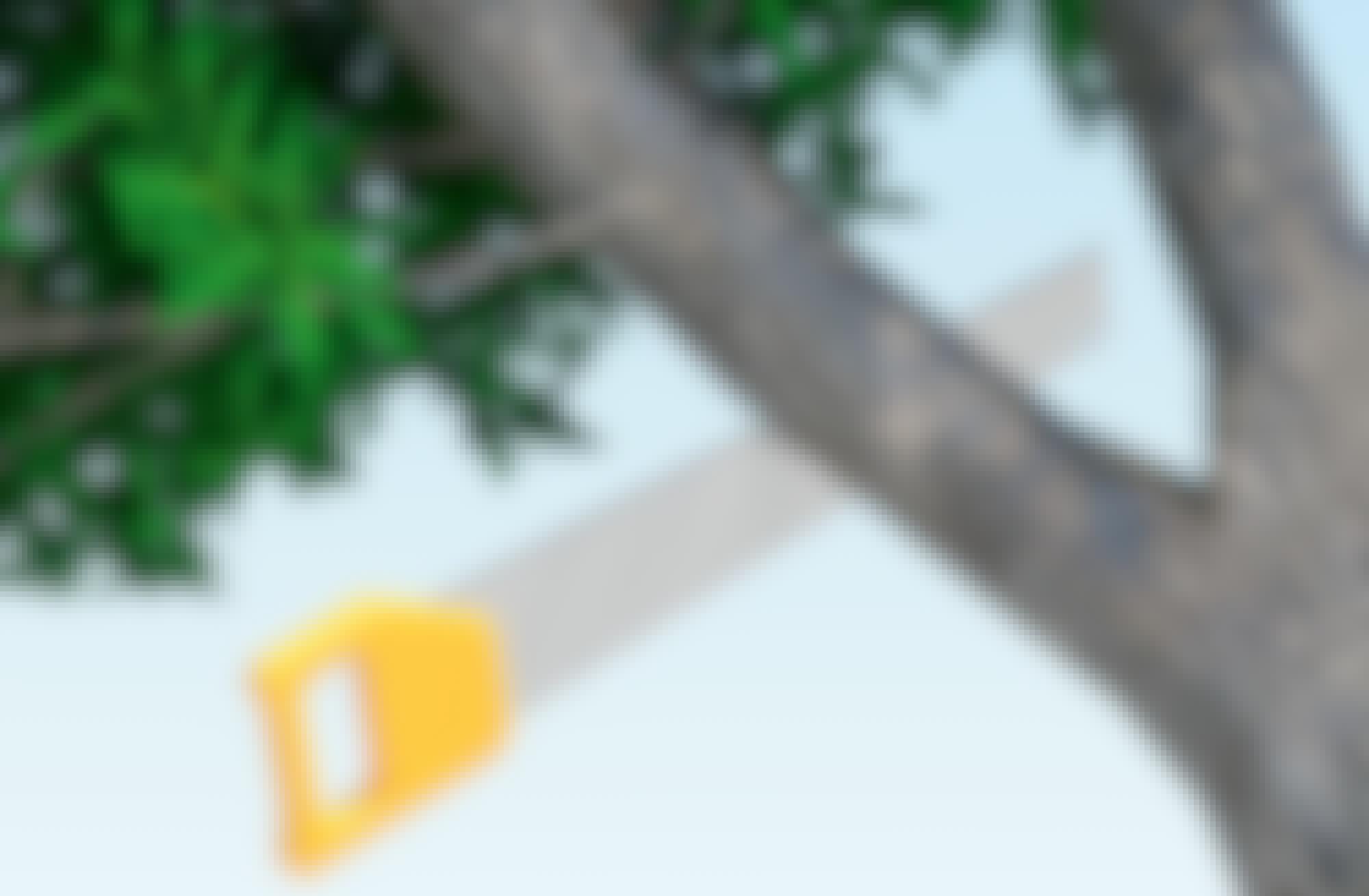 Hur beskär jag trädet utan att orsaka barkskador?