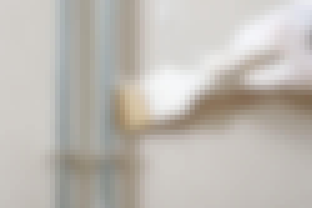 Glassfilt: Lim på veggen