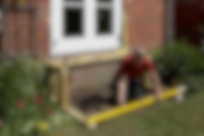 Smart lösning: trädgårdstrappa med bänk