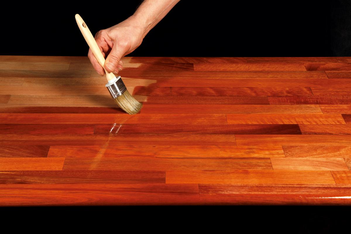 Topnotch Red bordpladen med en oliebehandling | Gør Det Selv WN64