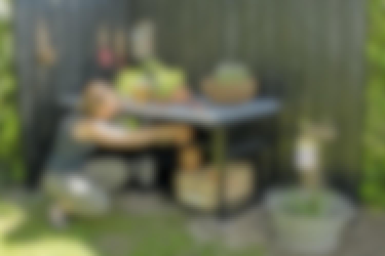 Sink på plantebordet
