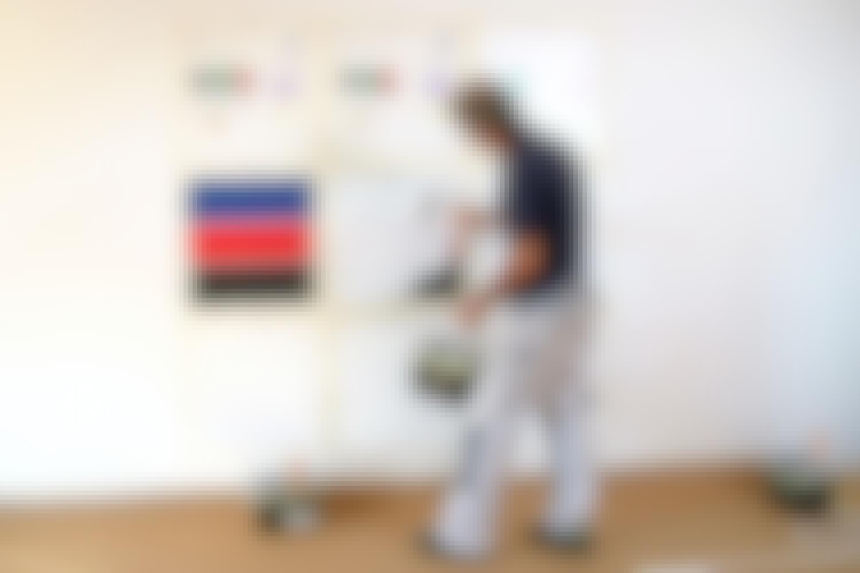 Väggfärg: Test av väggfärg