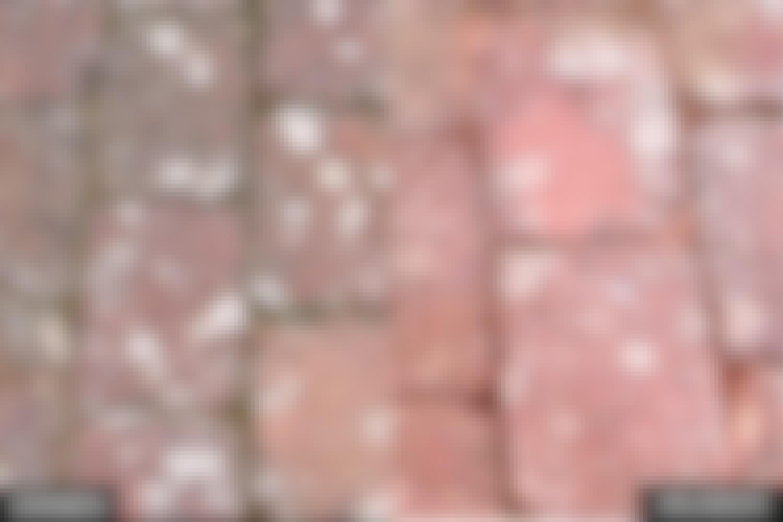 Kuvat kertovat selvästi, ettei kivissä ole suurta eroa ennen harjausta ja sen jälkeen.
