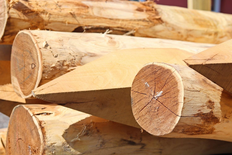træstolper til hegn