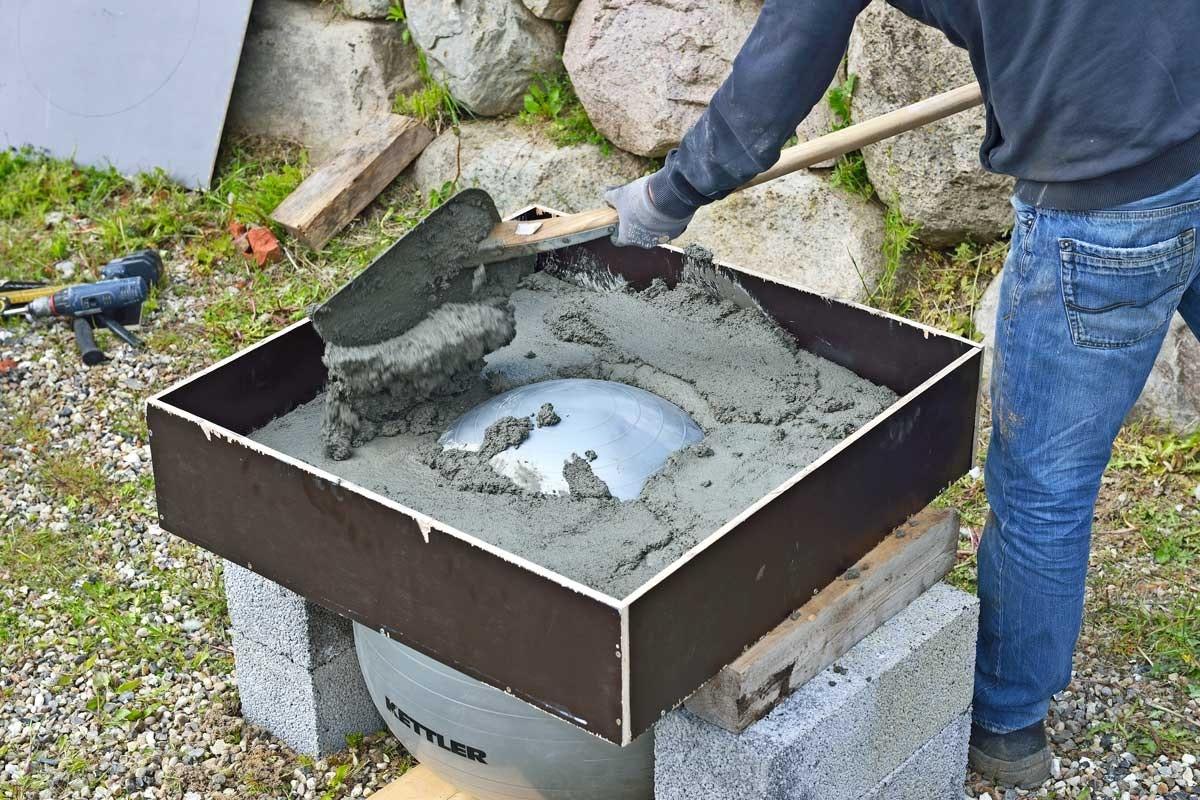 arbeta med betong