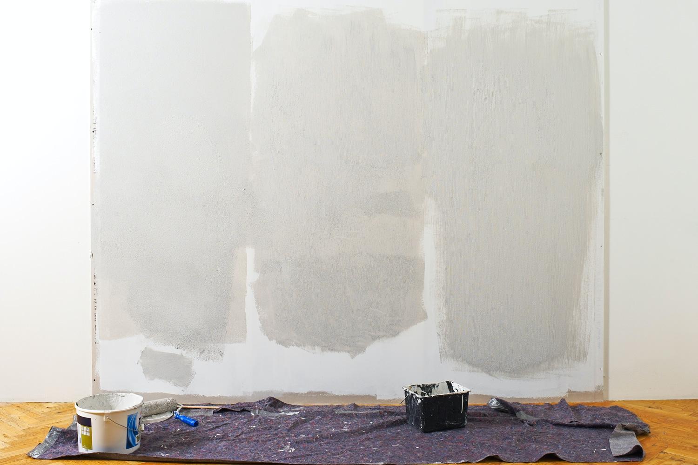 male direkte på pudset væg