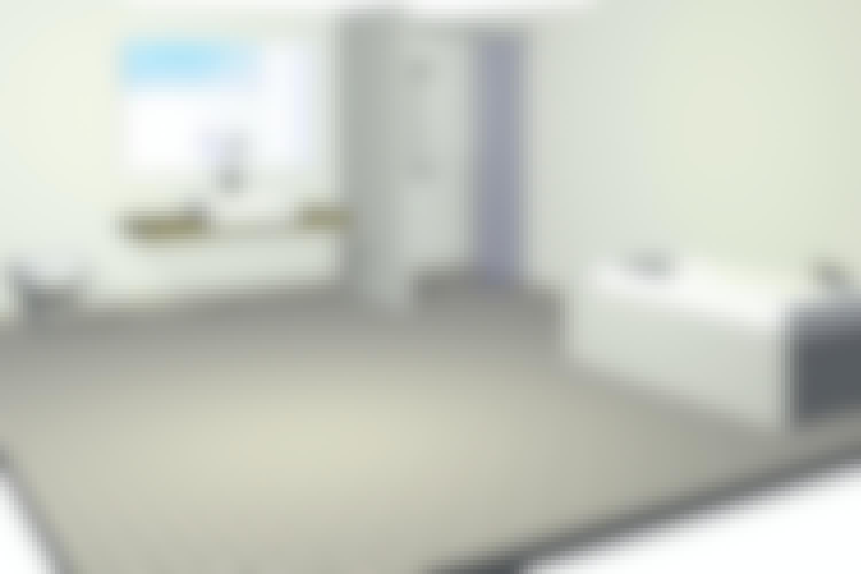 VIGTIGT: Gulvet samt væggene i alle vådzoner skal være vådrumssikret.