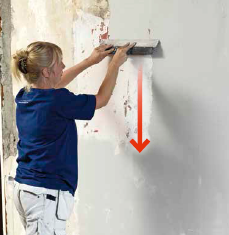 fuldspartling af væg