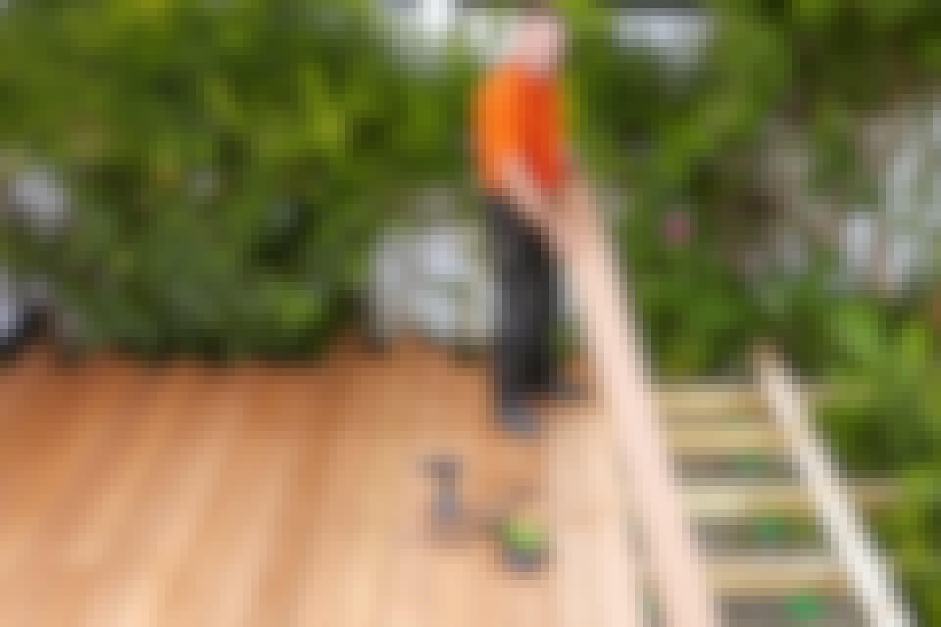 Træterrasse med skjult montering