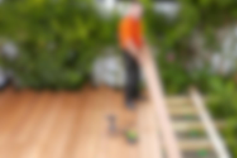 Terrasse med skjulte skruer