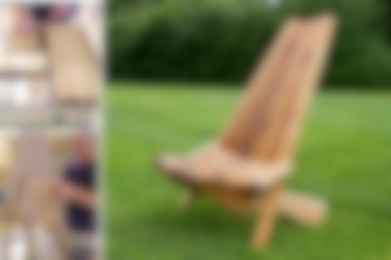 Tuolista on helppo tehdä korkeampi tai leveämpi, ja siihen voi rakentaa erilaiset jalat. Vain mielikuvitus rajoittaa vaihtoehtoja.