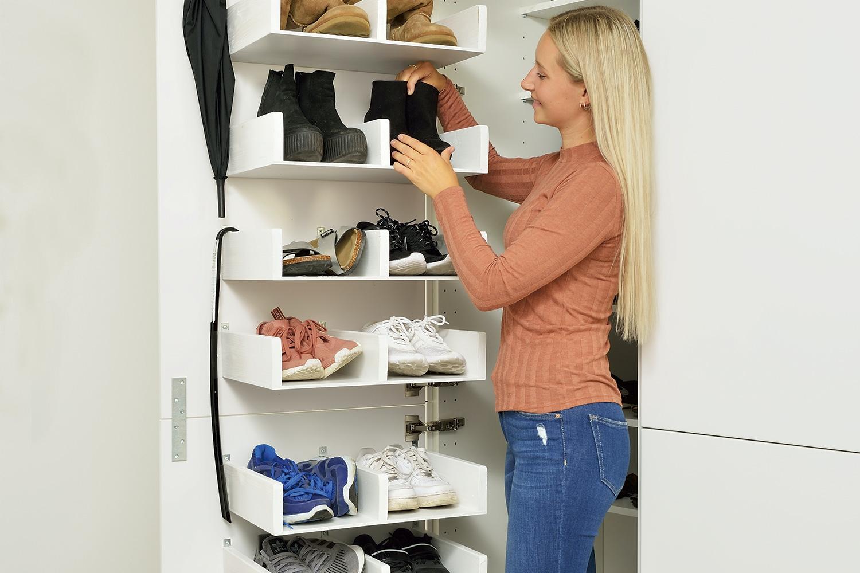 Opdateret Få plads til 40 par sko på ingen plads | Gør Det Selv RV07