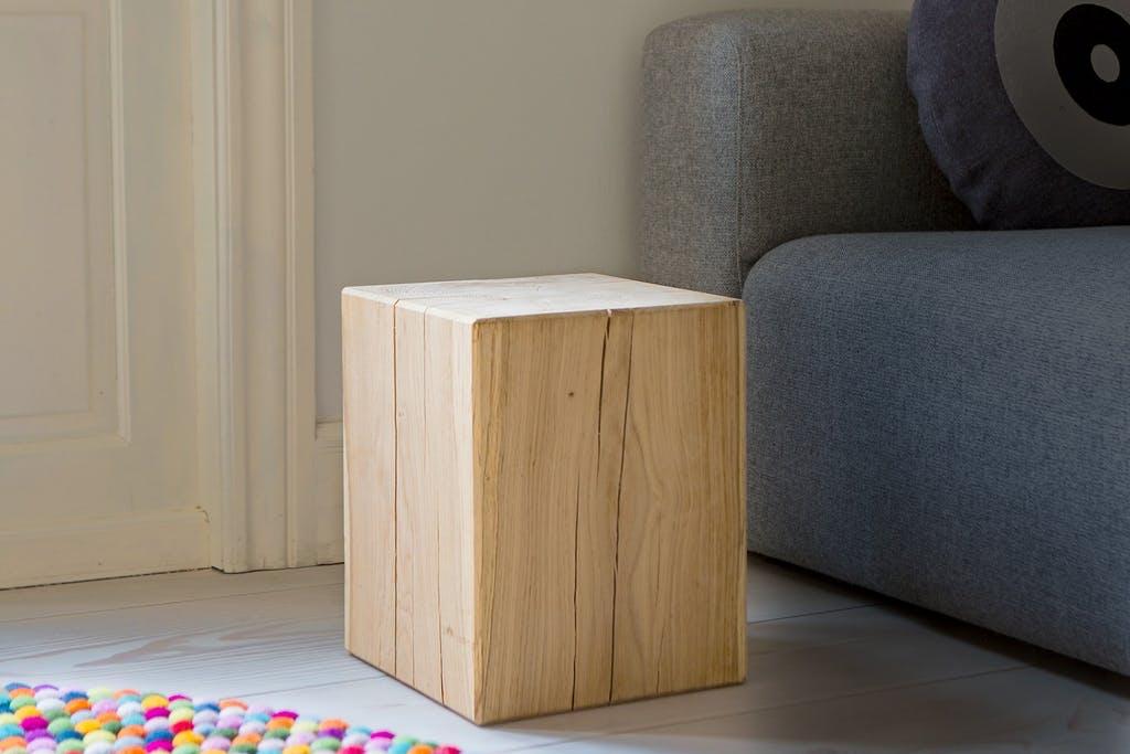 Puupölkystä huonekaluksi - mosaiikkikuvionti on helppoa ja hauskaa