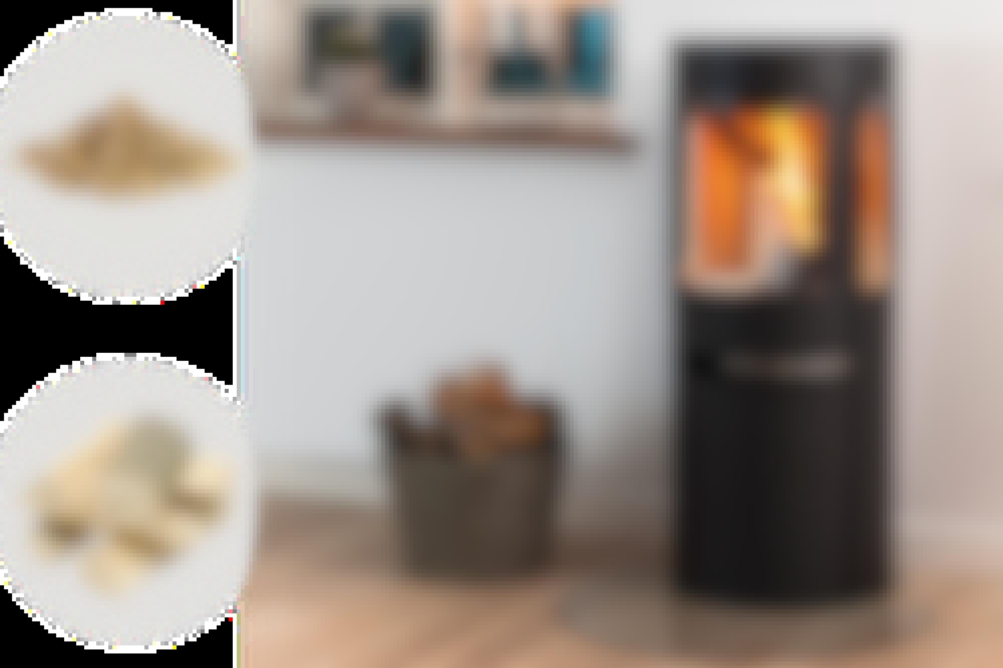 Med den nye brændeovn kan du fyre op for varmen med både træpiller og brænde.