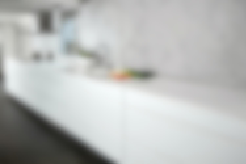 Familiekjøkken med 5 meter lang benkeplate