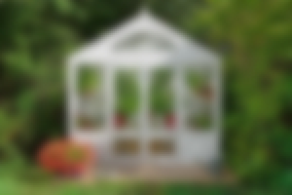 Stolpsko: Stolpsko till lusthus och trädgådsskjul