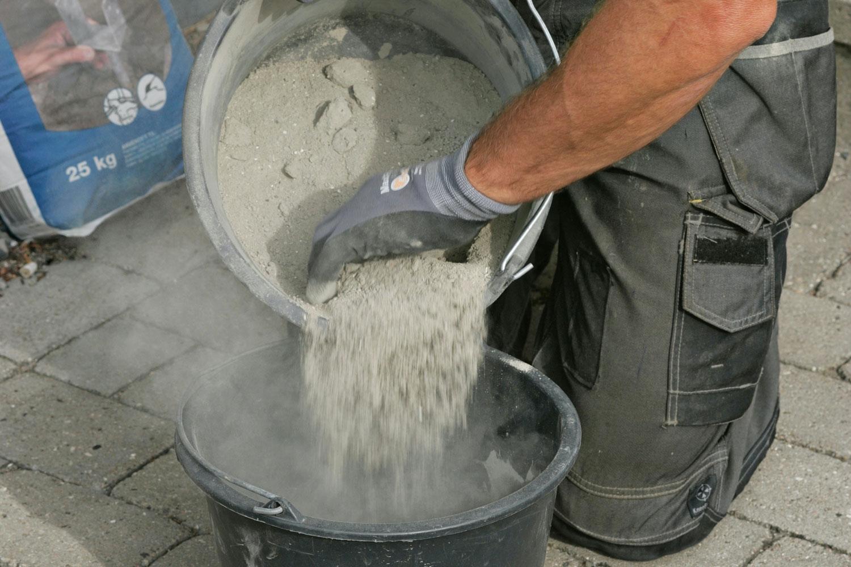 blandingsforhold cement sand