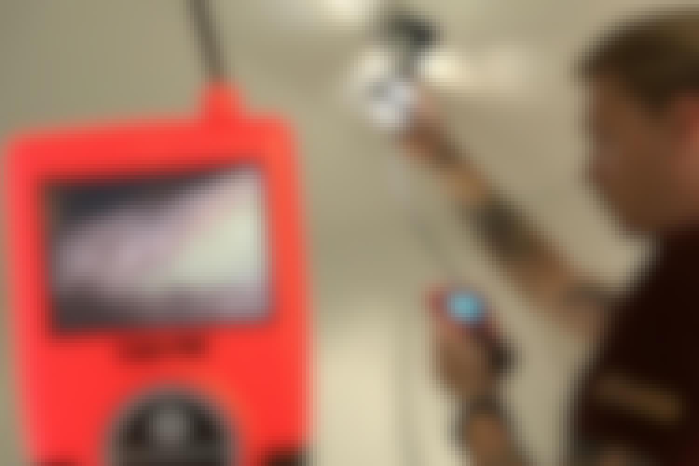 Inspeksjonskamera: Sjekk isolasjonen med inspeksjonskameraet
