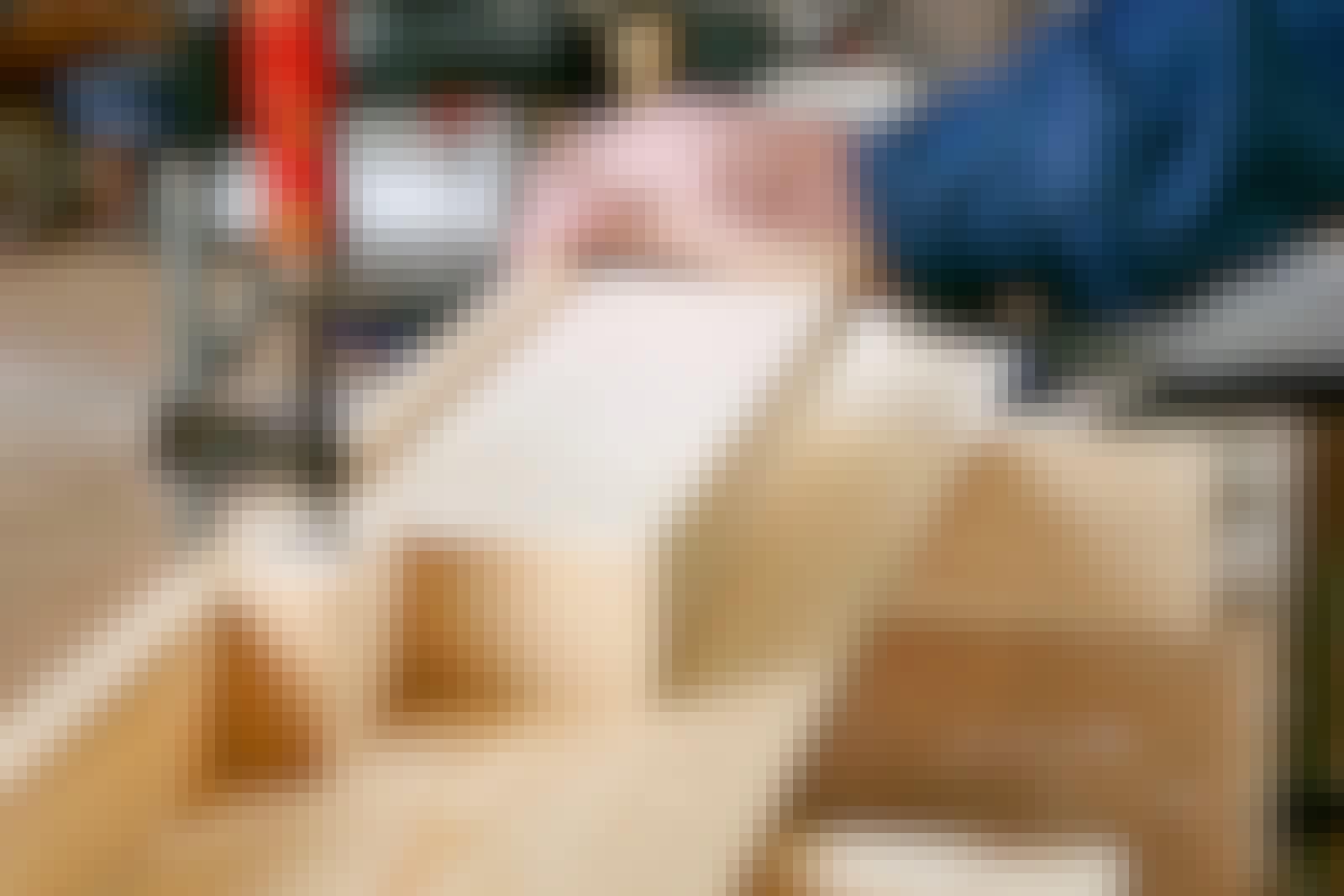 Kap og geringssav: Byg et langt arbejdsbord til din kap geringssav
