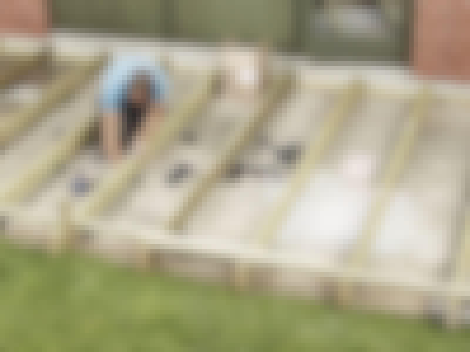 Bygga trädäck på plattor: Den klassiska altanan