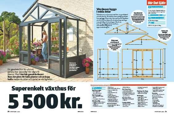 Gavelväxthus: Superenkelt gavelväxthus för 5500 kr.